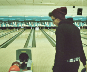 boy, bowling, and vintage image
