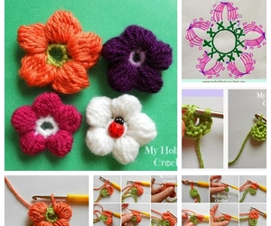 crafts, flower, and crochet image