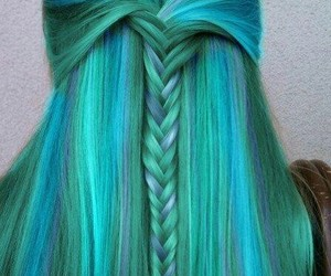 green, wow, and hair image