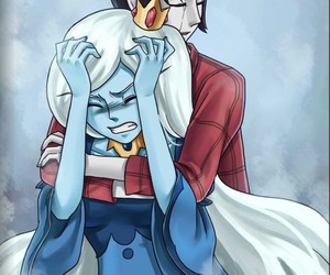 adventure time and ice queen image