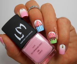 nails, cupcake, and nail polish image