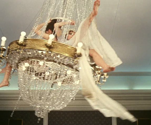 chandelier, pale, and white image