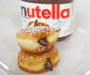 donut, nutella, and chocolate image