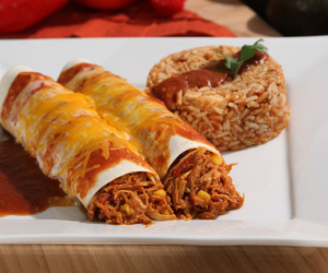 cheese, Chicken, and enchiladas image