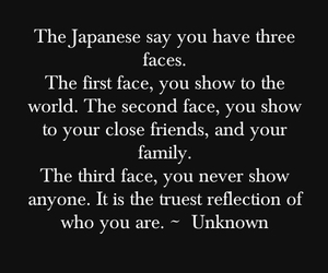 face, quote, and japanese image