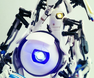 portal, robots, and video games image