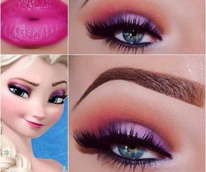 elsa, frozen, and makeup image