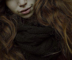 piercing, septum, and girl image