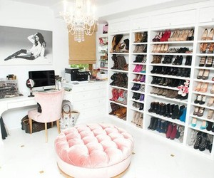 shoes, closet, and pink image