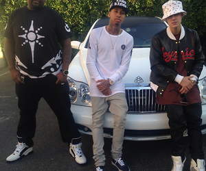 justin bieber, icon, and tyga image