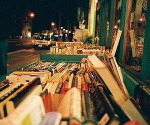 books, love, and bookstore image