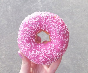 donut, love, and food image