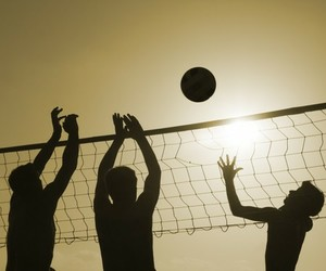 volleyball, sport, and beach image