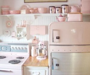 home, pastel, and kitchen image