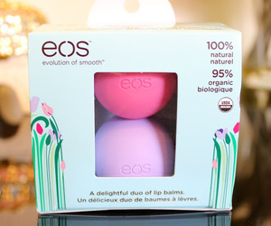 eos, lip balm, and makeup image