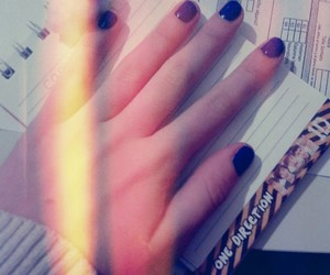 azul, blue, and nails image