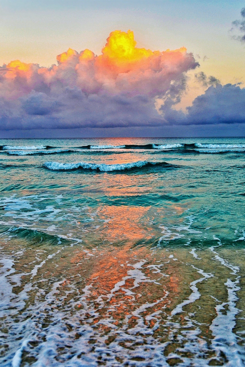 Dawn On Varadero Beach Cuba
