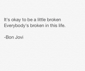bon jovi, life, and quote image