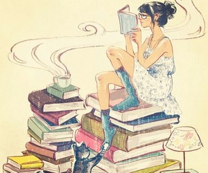 books, cute, and love image