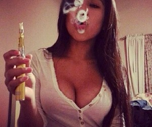 girl, hookah, and pretty image
