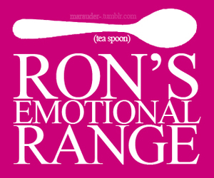 ron weasley, tea spoon, and emotional range image