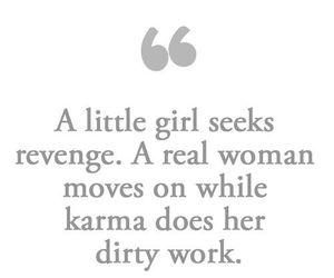 karma, quotes, and woman image