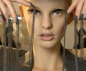 Alexander McQueen, model, and nails image
