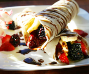 food, crepes, and delicious image