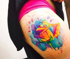colorful, inked, and tattoo image