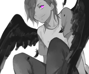 black white, lucifer, and manga image
