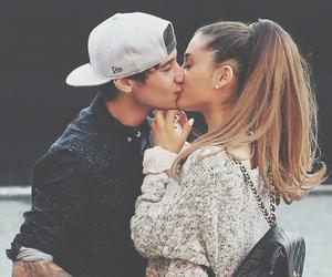 ariana grande, kiss, and couple image