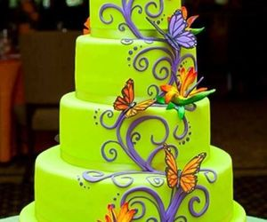 cake, butterfly, and green image