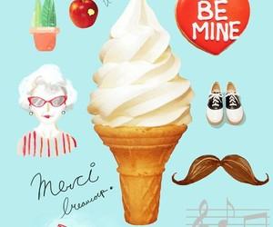 blue, vintage, and ice cream image