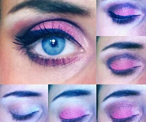 eye, fuksia, and fluo image