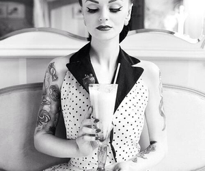 tattoo, Pin Up, and vintage image