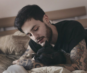 tattoo, boy, and cat image