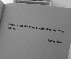 die, sad, and suicide image