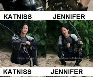funny, Jennifer Lawrence, and katniss everdeen image