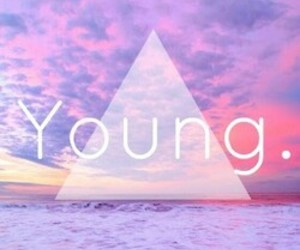 young, pink, and sky image