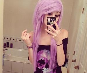 hair, pastel, and purple hair image