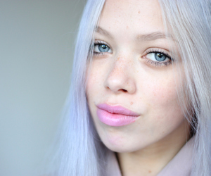blue, hair, and pastel hair image