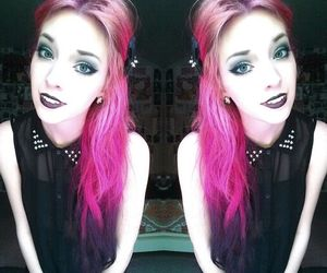 pink hair and pastel goth image