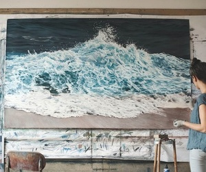 art, paint, and sea image