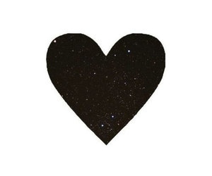 beautiful, black, and heart image