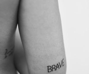 brave, chic, and girl tattoo image