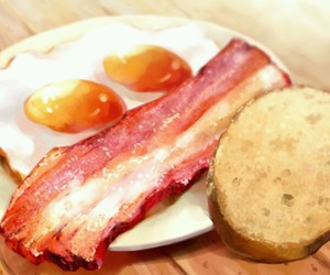 bacon, food, and bread image