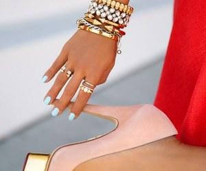 heels, pink, and nails image
