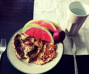 breakfest, healthy, and watermelon image