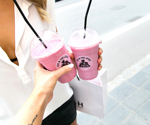 fashion, pink, and drink image