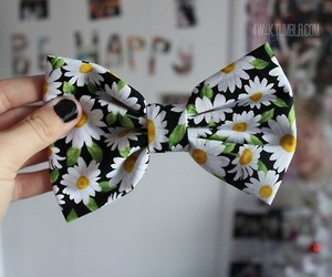 bow, tumblr, and flowers image